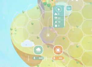 7 clustered tiles with pollution 3